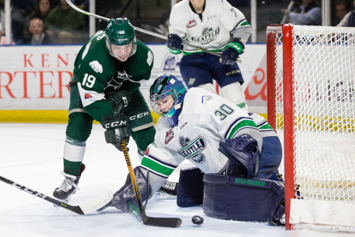 KENT, WA - MARCH 27: (Photo by Christopher Mast/Everett Silvertips)