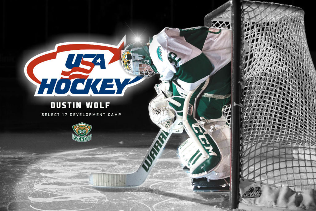 Dustin Wolf Off To Team Usa Development Camp Everett Silvertips