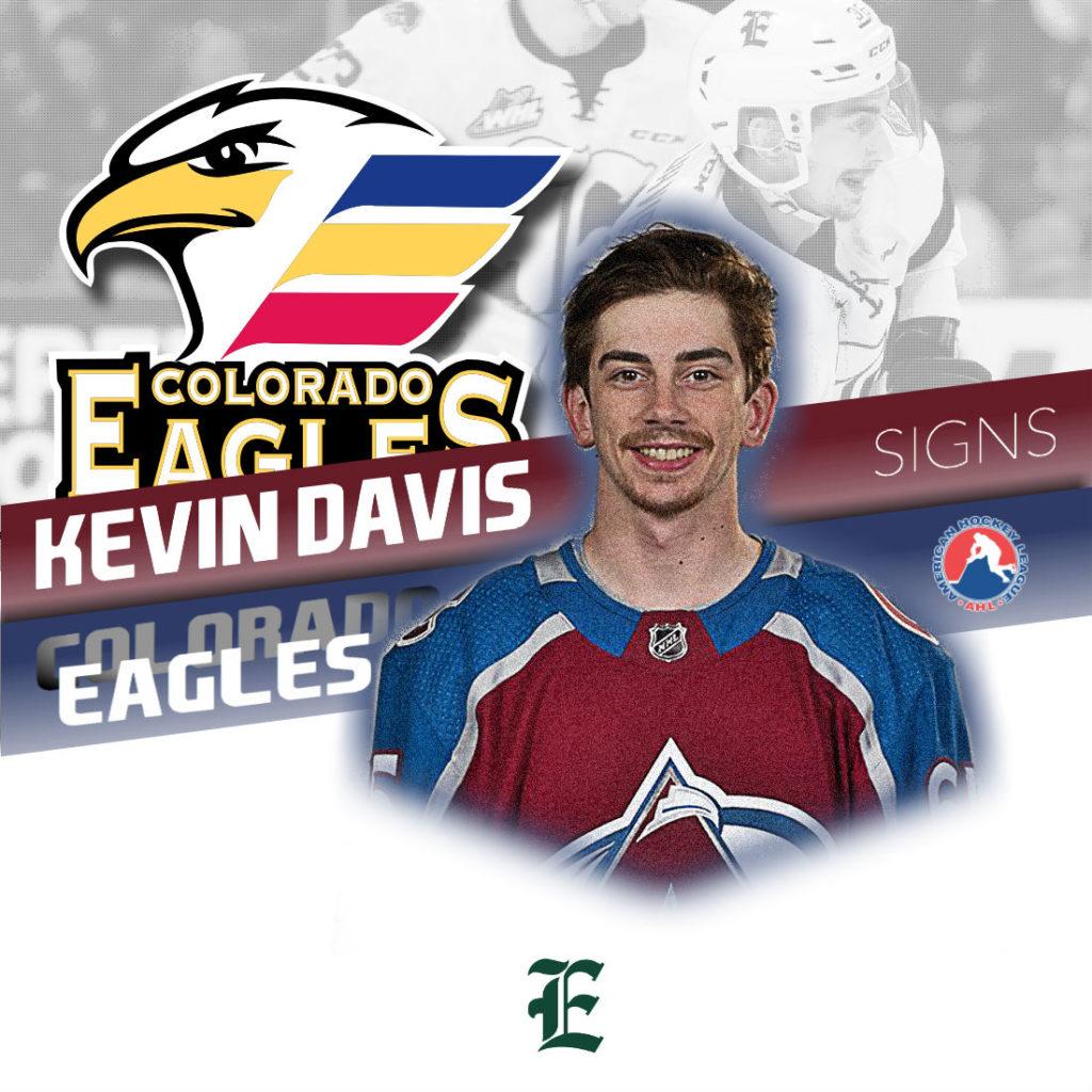 Ahl Signed Kevin Davis Colorado Eagles Everett Silvertips