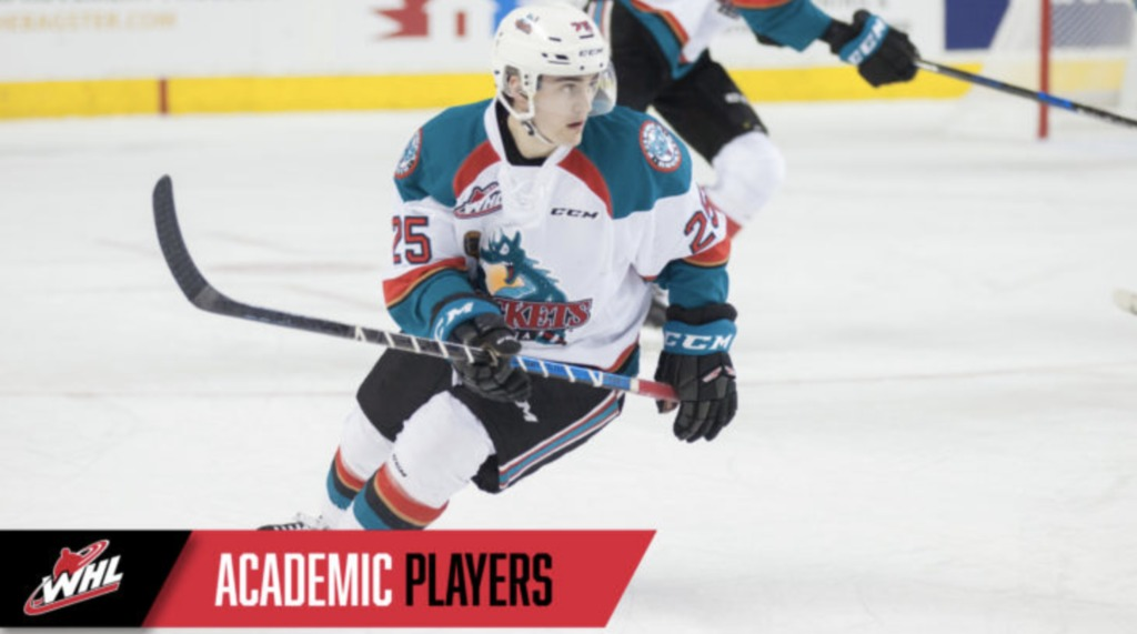 Crosby one of WHL's B C  Division Academic Spotlight players