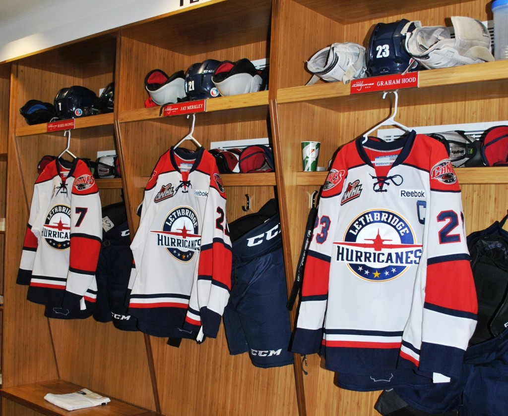 "a67e577a3 Lethbridge, AB – The Lethbridge Hurricanes unveiled this season's third  jersey on ""Military Appreciation"" night."