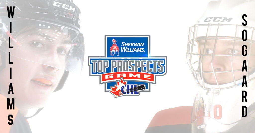Sogaard And Williams Selected For 2019 Sherwin Williams Chl Nhl Top