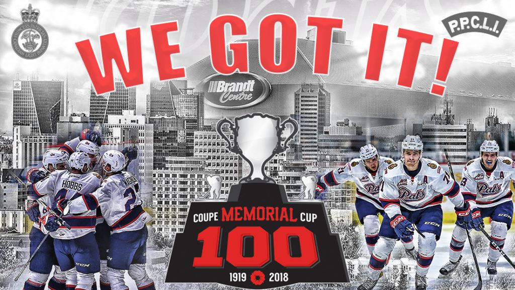 Regina Pats To Host 100th Mastercard Memorial Cup In 2018 Regina Pats