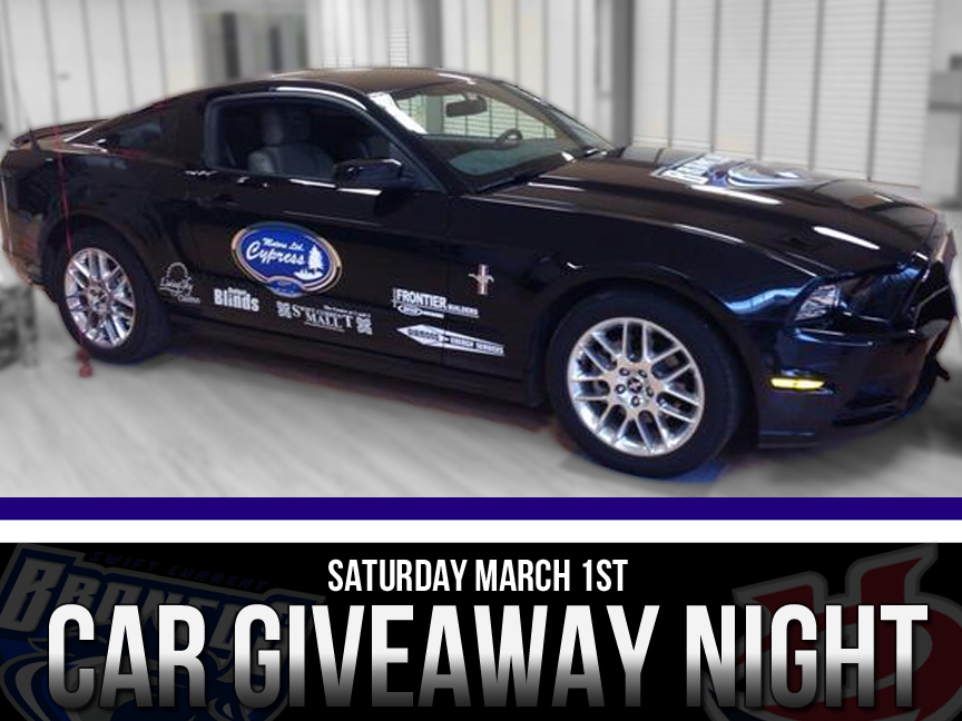 Car Giveaway – Saturday Night – Swift Current Broncos