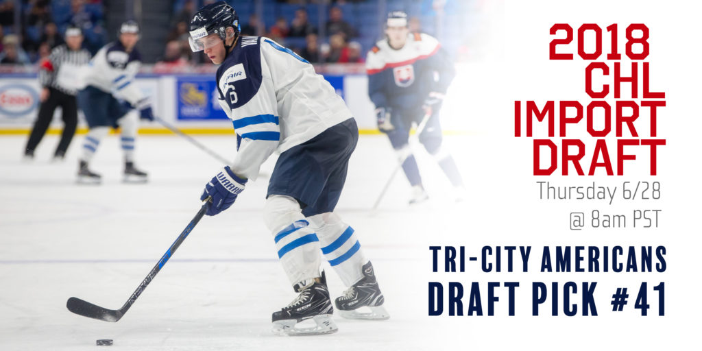 Americans Will Make Selection In 2018 Chl Import Draft Tri City