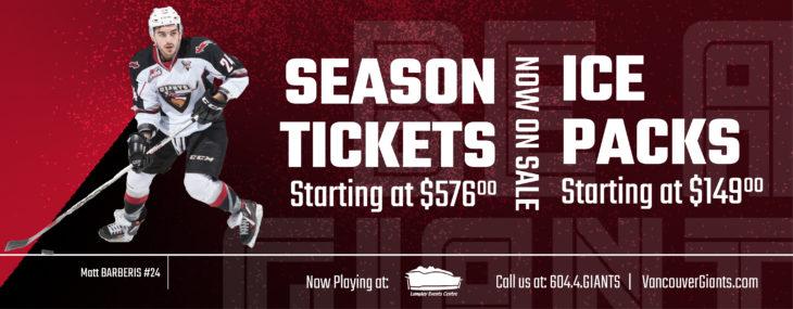 Splash Ad - Season Tix & Ice Packs