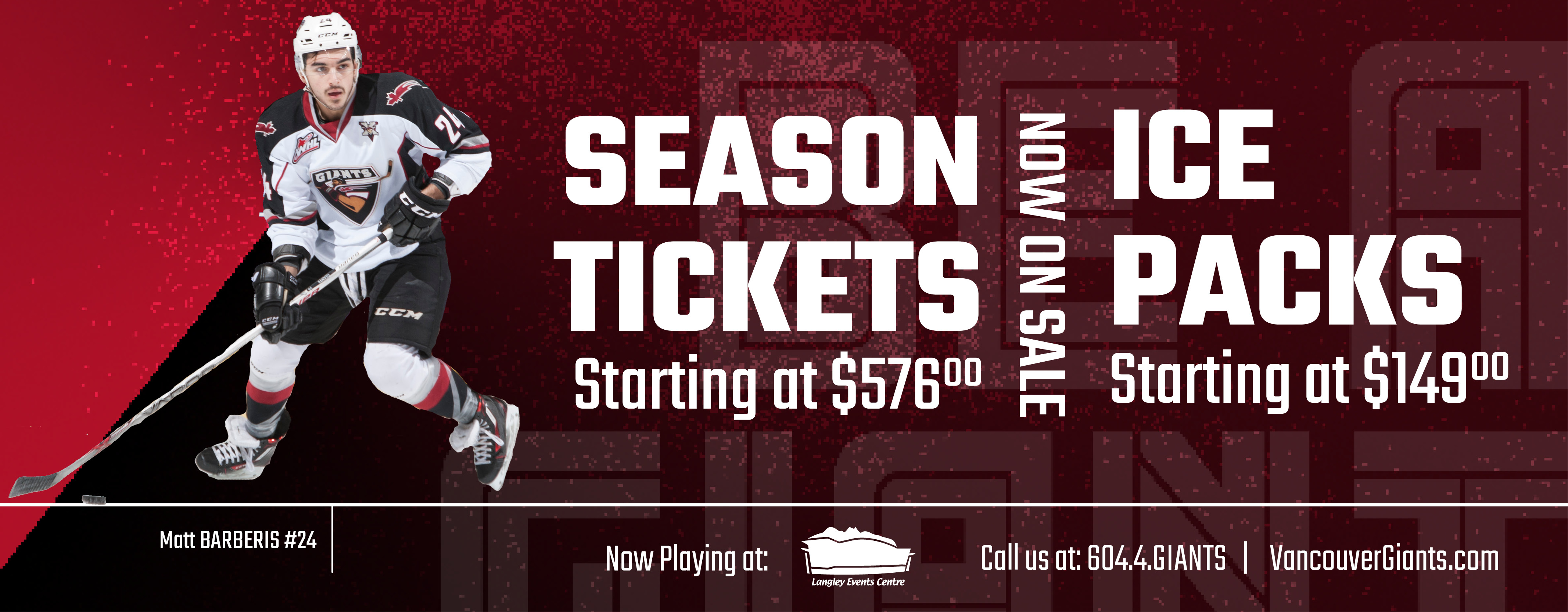Splash Ad - Season Tix & Ice Packs