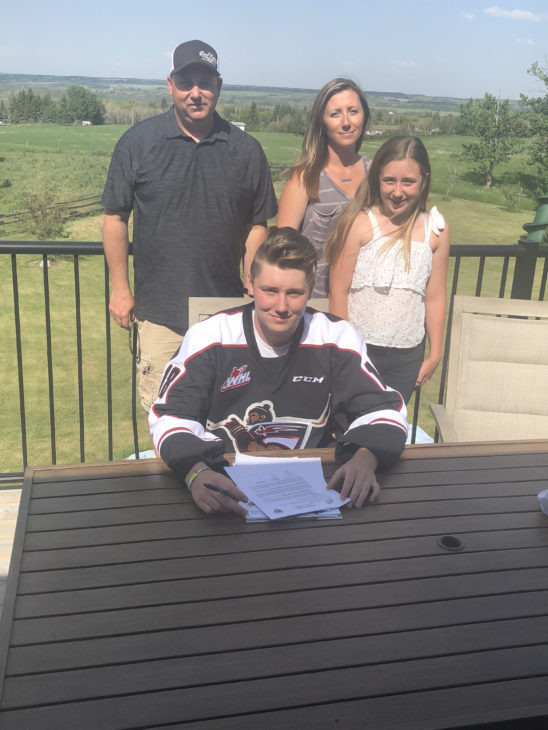 Drew Sim along with his father Ted (Left), mother Stacey (middle) and sister Avery (right). He's the second draftee from the Giants 2018 Draft Class to sign with the team.