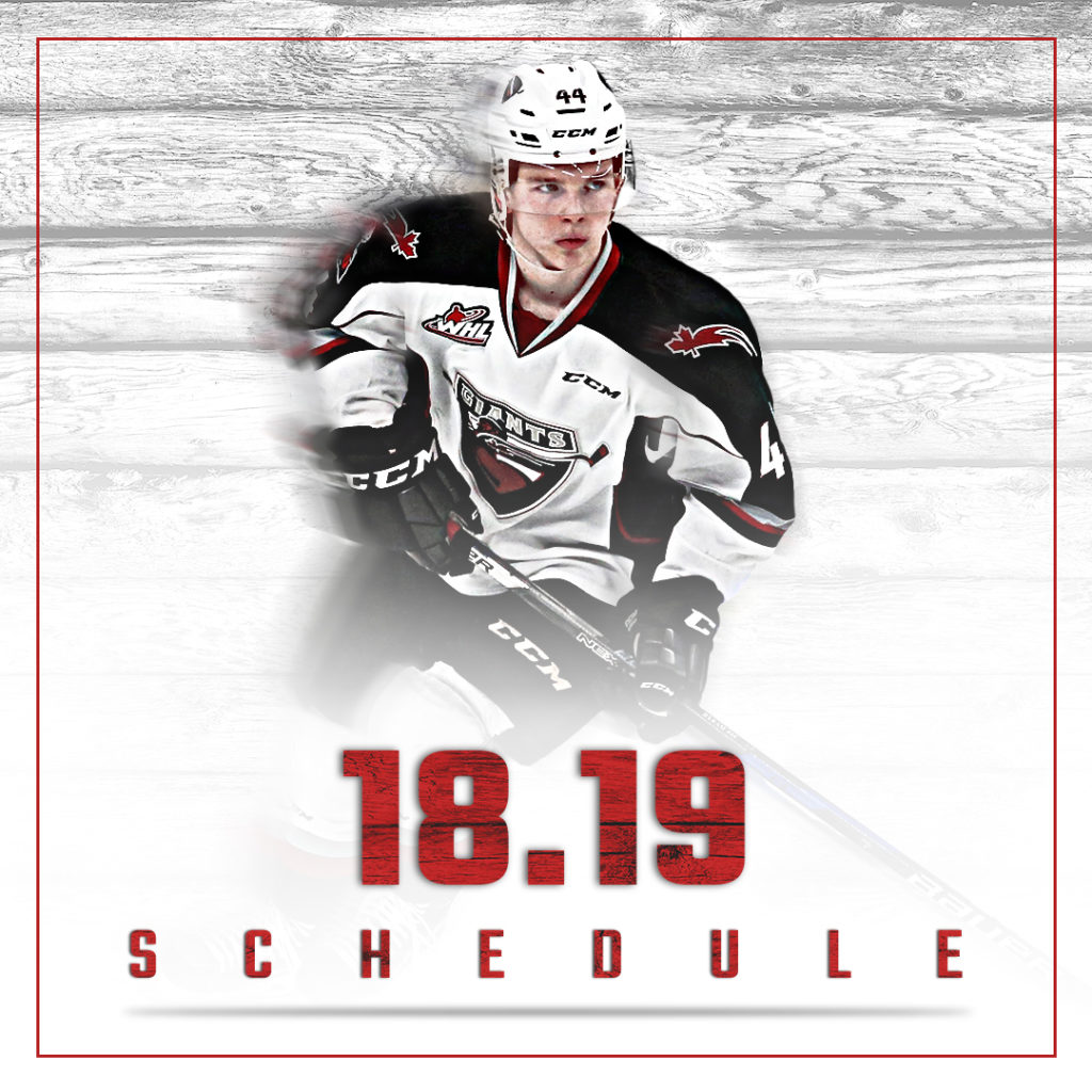 Vancouver Giants Unveil 2018 19 Regular Season Schedule