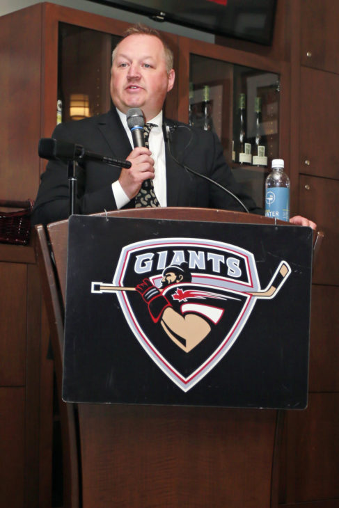 Giants GM Barclay Parneta introduces Michael Dyck as head coach of the Vancouver Giants