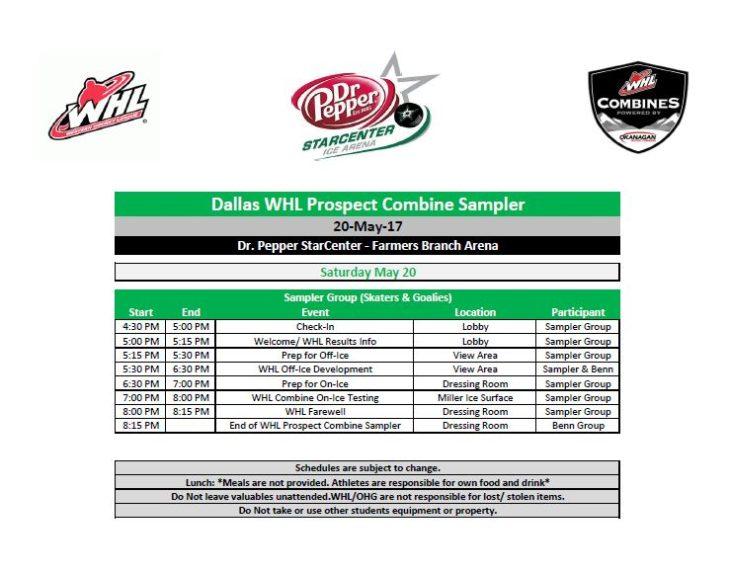 Dallas WHL Combine Sampler Announced – WHL Prospects