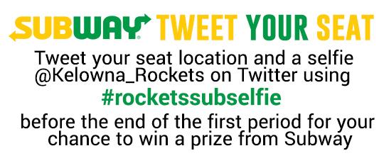 subway tweet your seat