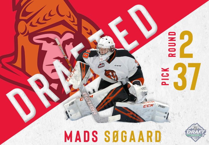 Sogaard Selected In Second Round By Senators Medicine Hat Tigers