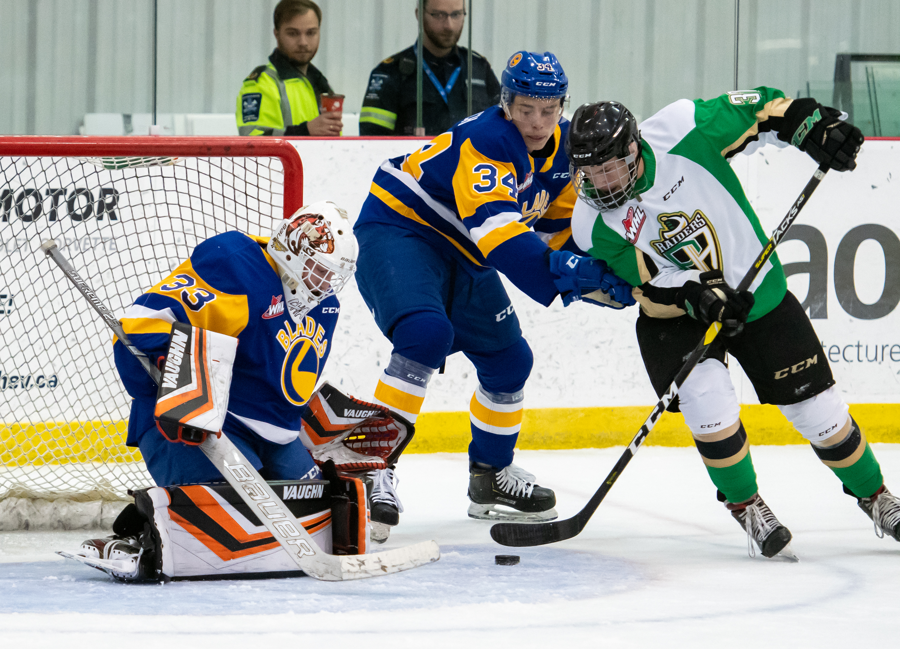 Ethan Chadwick in action for the Blades during the 2019 Pre-Season.