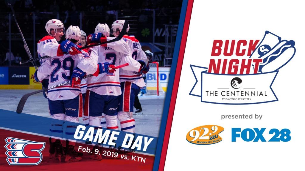 PREVIEW: February 9, 2019 vs  Kootenay – Spokane Chiefs