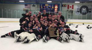 Reller with 2018 Minnesota Bantam State Championship team Osseo-Maple Grove
