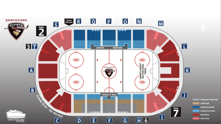 Langley Events Centre Seat Map - Vancouver Giants on riverfront stadium seat map, winnipeg stadium seat map, columbus crew stadium seat map, rio tinto stadium seat map, browns stadium seat map, panthers stadium seat map, byrd stadium seat map, cardinal stadium seat map, 49ers stadium seat map, redskins stadium seat map, yankees stadium seat map, martin stadium seat map, toyota stadium seat map, nrg stadium seat map, dolphin stadium seat map, rockies stadium seat map, phoenix stadium seat map, bisons stadium seat map, bank of america stadium seat map, marlins stadium seat map,