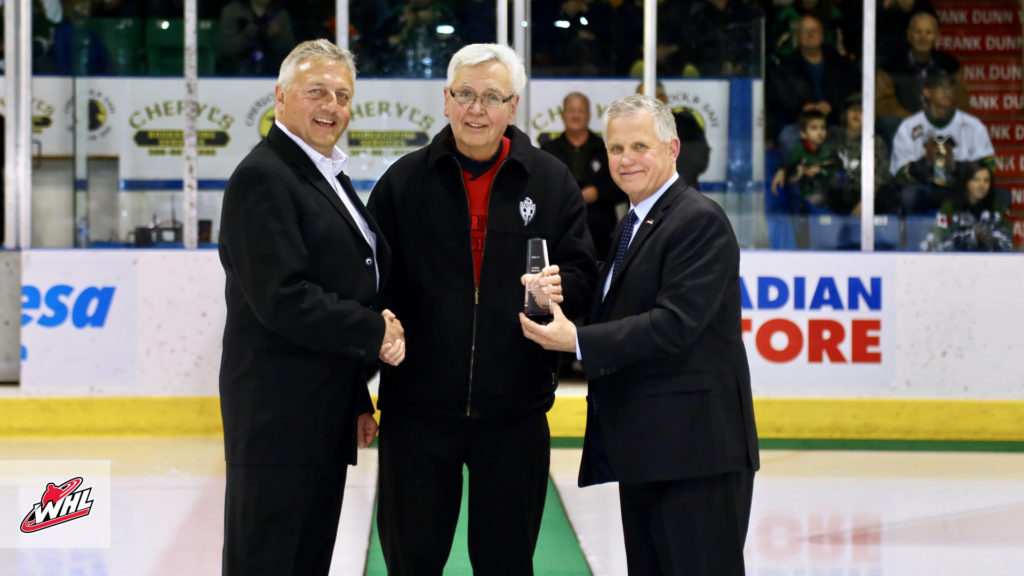 Raiders Bergen Receives Whl Distinguished Service Award Prince