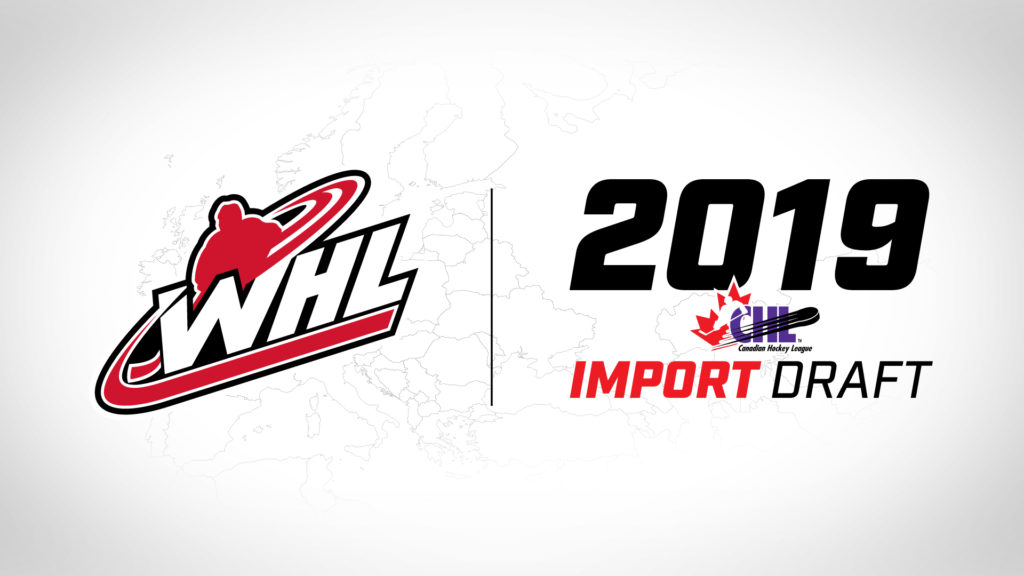 WHL clubs select 30 players from eight nations in 2019 CHL Import