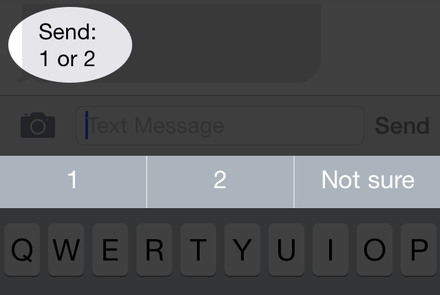 QuickType hints at a smarter Messages app