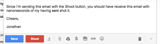 Shoot an email