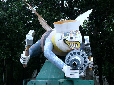 Fighting Seabee Statue