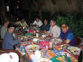 Wilderness Inquiry group dines at the Hotel Posada de Hidelgo in El Fuerte on our way to Copper Canyon.