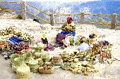 Tarahumara women sells hand-woven baskets at an overlook at Divisadero Copper Canyon.
