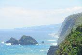 The misty Koholo Coast of Hawaii.