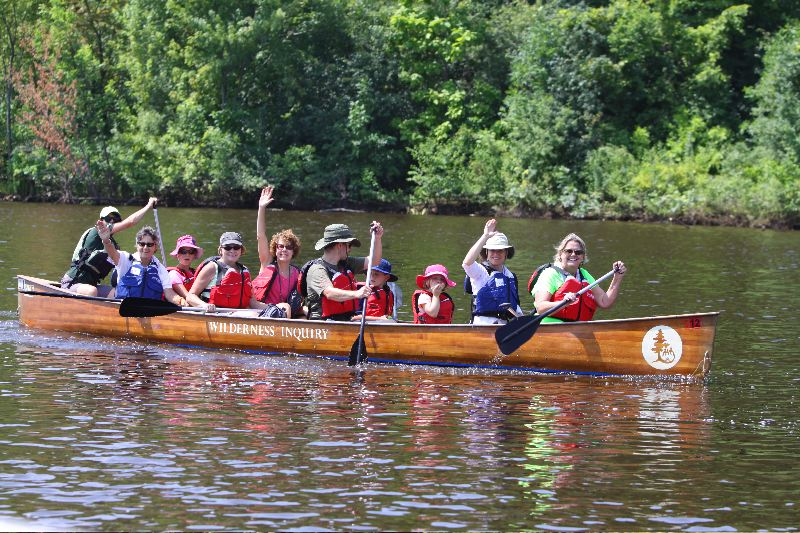 Our Voyageur canoes can hold you and 4-8 other participants. This is a great way to meet new people!