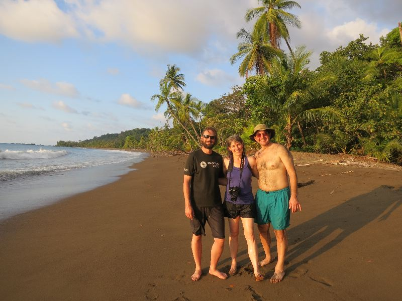 Beach walks are a great way to end the day on our Costa Rica trip.