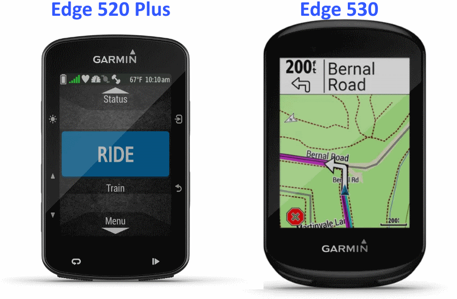 garmin 530 vs 520 plus