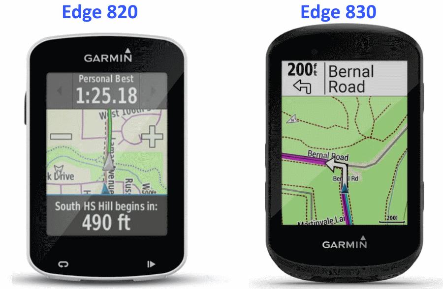 vergelijk garmin 830 vs 820