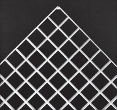 1/2 in x 2 ft x 4 ft Acrylic Eggcrate Louver Panel / White