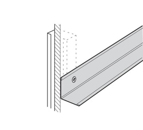 10 ft x 1 in x 2 in USG Donn Brand Suspension Systems Heavy Duty Wall Molding / White - M20SM