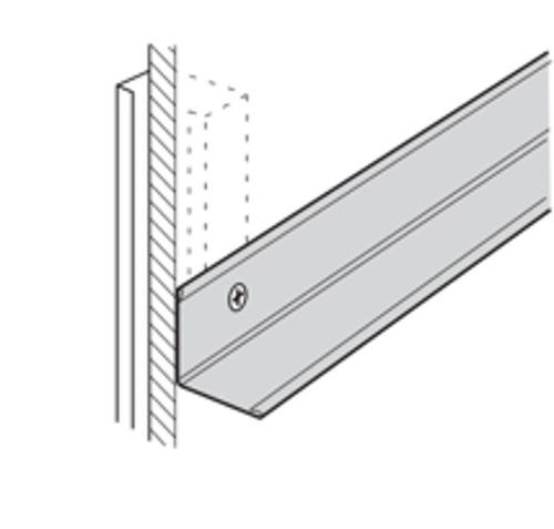 12 ft x 7/8 in x 7/8 in USG Donn Brand Suspension Systems Aluminum Wall Angle Molding / White - M7A