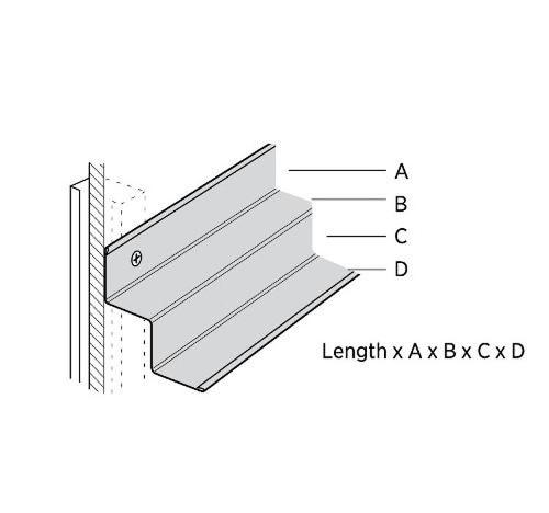 12 ft x 7/8 in x 3/8 in x 3/8 in x 9/16 in USG Donn Brand Suspension Systems Shadow Molding / White - MS174