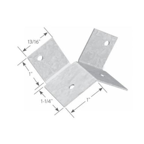 1 in x 1 1/4 in x 1 in x 18 Gauge 43 mil ClarkDietrich Spazzer Bar Fly Clip