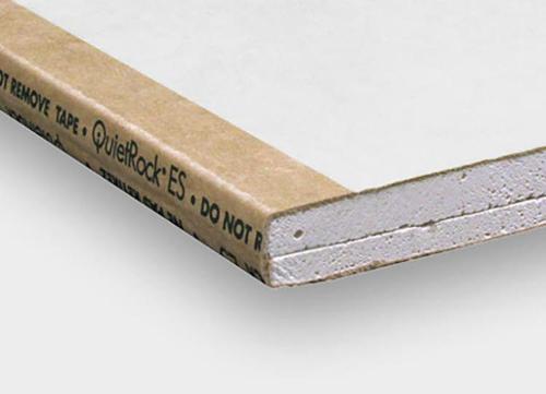 5/8 in x 4 ft x 10 ft PABCO QuietRock EZ-Snap Sound Dampening Gypsum Panel