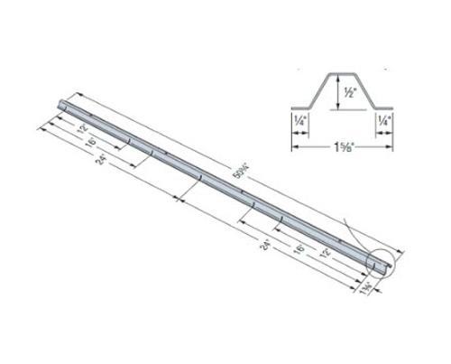 50 ft 3/4 in x 18 Gauge 43 mil Simpson Strong-Tie SBR Structural Spacer Bracer