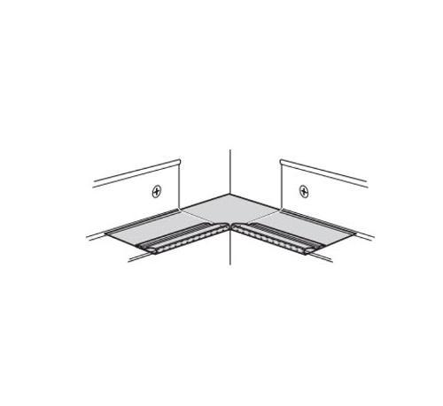 USG Donn Brand Suspension Systems Inside Corner Cap for 7/8 in Molding / White - A2