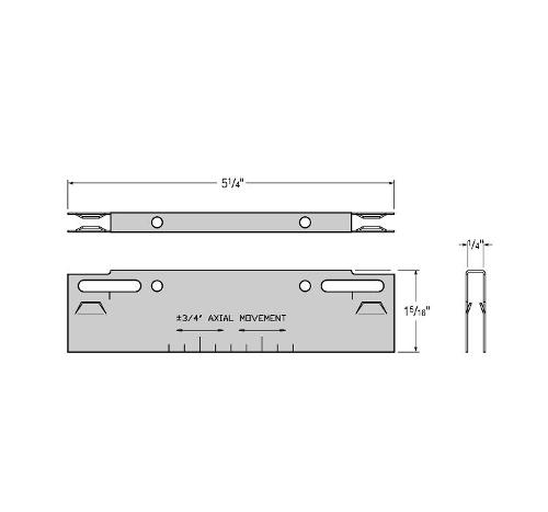 USG Donn Brand Suspensions Systems 2-Way Seismic Separation Joint Clip - DH2