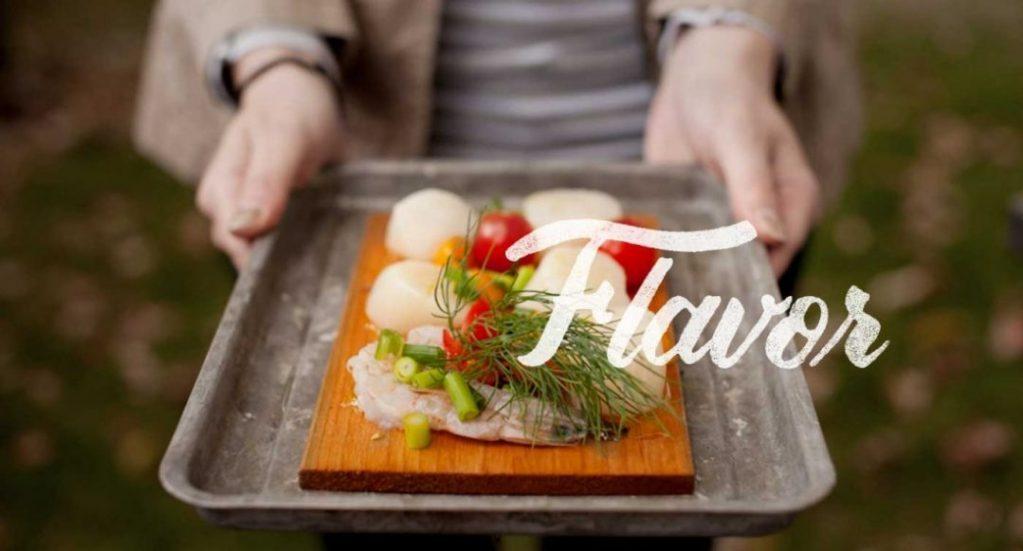 Cedar Grilling Plank with Food