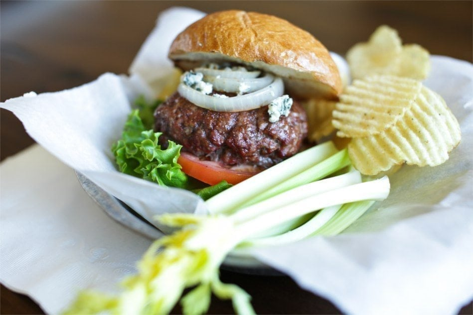 Cedar Planked Burger Buffalo Style Recipe