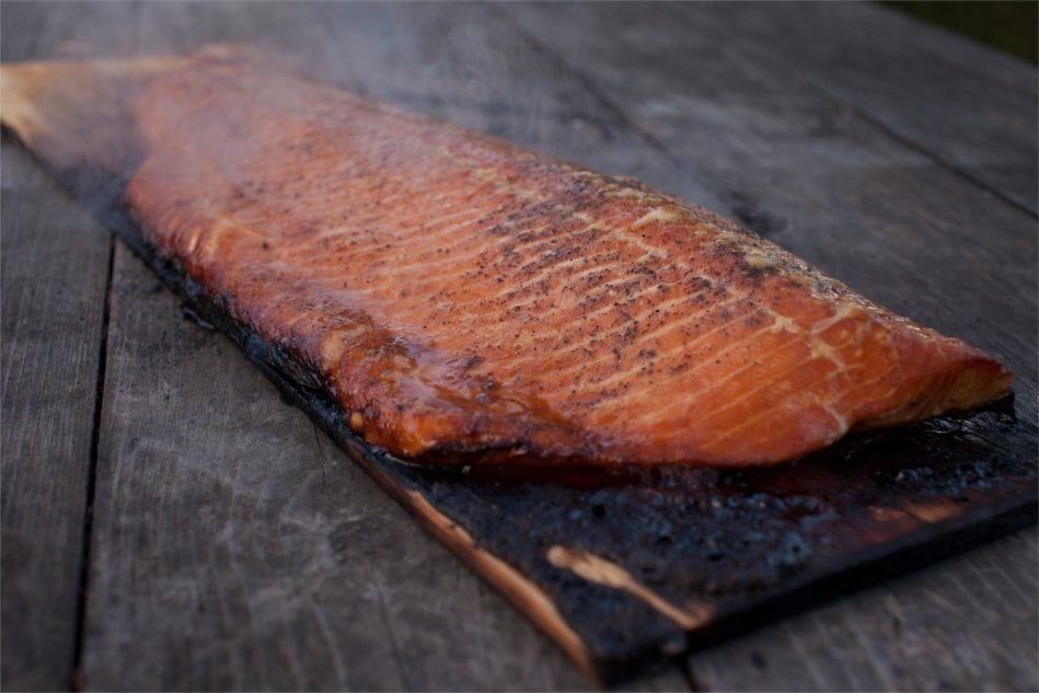Cedar Planked Salmon Fillet with Brown Sugar Recipe