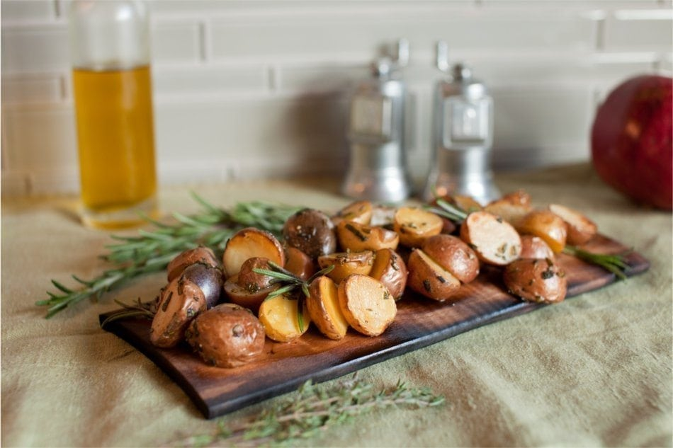 Maple Planked Fingerling Potatoes Recipe