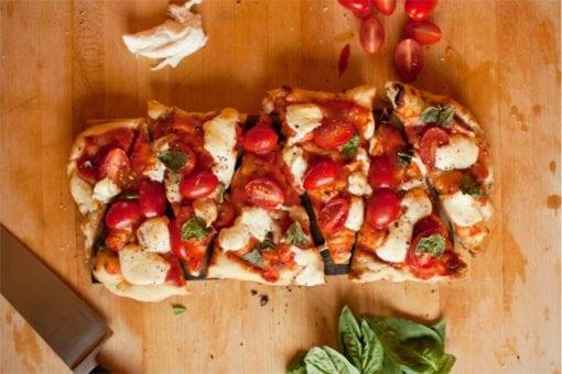 Wood Smoked Pizza on Cedar Plank