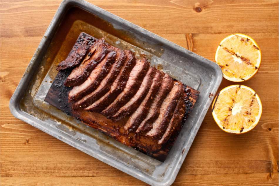 Hickory Planked Flat Iron Steak Recipe