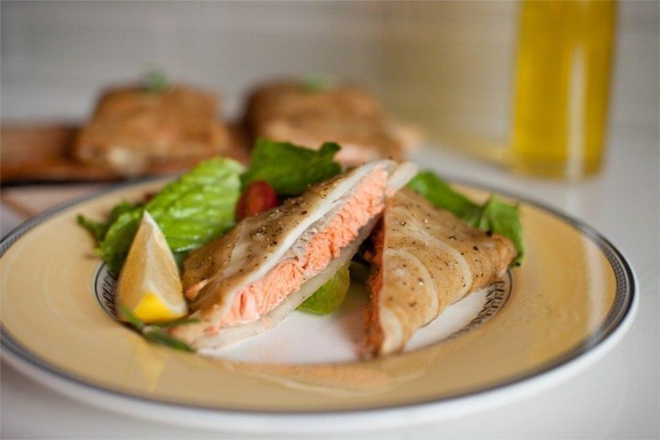 Cedar Planked Potato-Wrapped Salmon