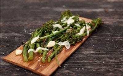 Cedar Planked Broccolini